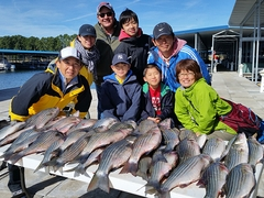 Family with kids fishing trip Little River Guide Service Clarks Hill Lake GA Lake Strom Thurmond SC