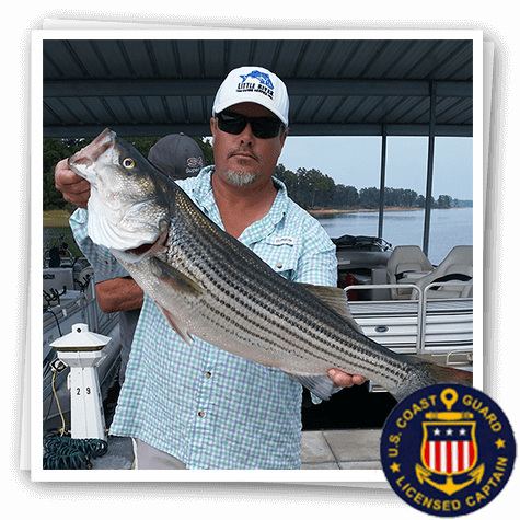 Licensed captain Tony Shepherd fun fishing guide Little River Guide Service Clarks Hill Lake GA Lake Strom Thurmond SC